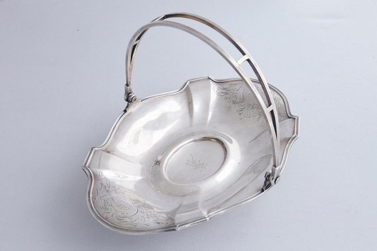 Early 20th Century Wallace Brothers Silver Plated Basket, 1915 For Sale 3