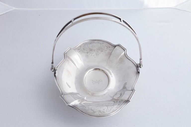 Early 20th Century Wallace Brothers Silver Plated Basket, 1915 For Sale 4