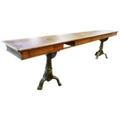 Early 20th Century Walnut Counter from Spain