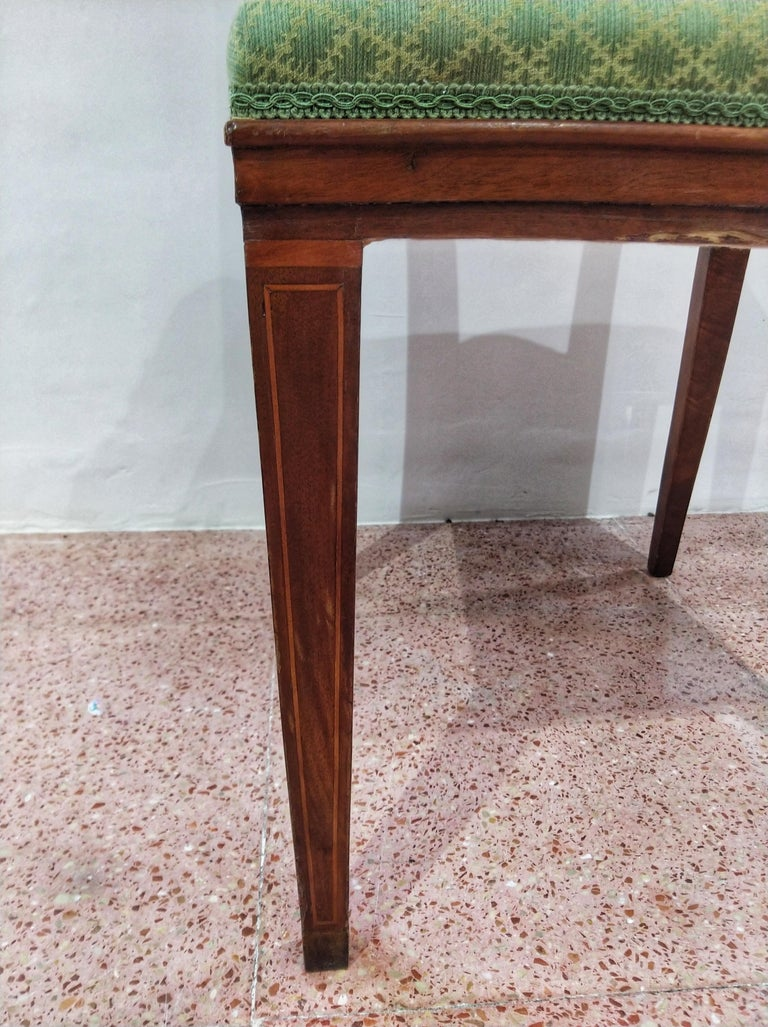 Early 20th Century Walnut Italian Chair Louis XVI Style In Good Condition For Sale In Toledo, Castilla La Mancha