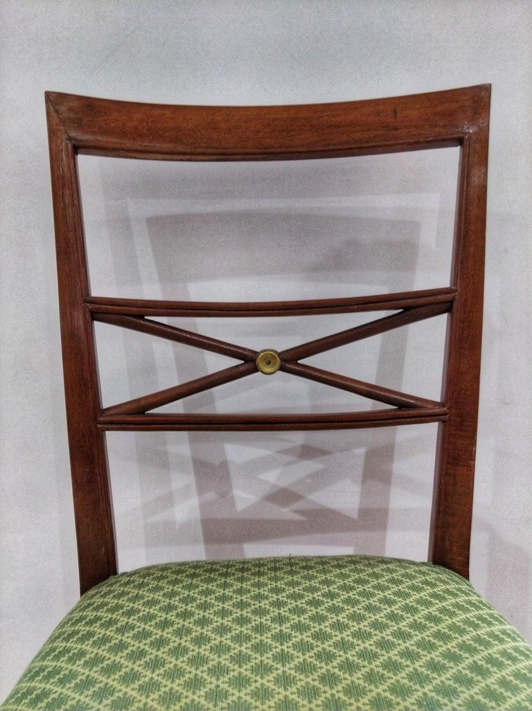 Early 20th Century Walnut Italian Chair Louis XVI Style For Sale 2