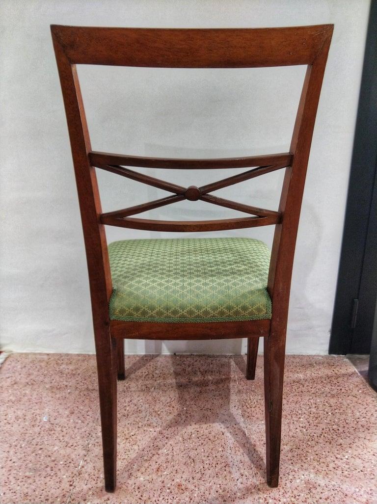 Early 20th Century Walnut Italian Chair Louis XVI Style For Sale 3
