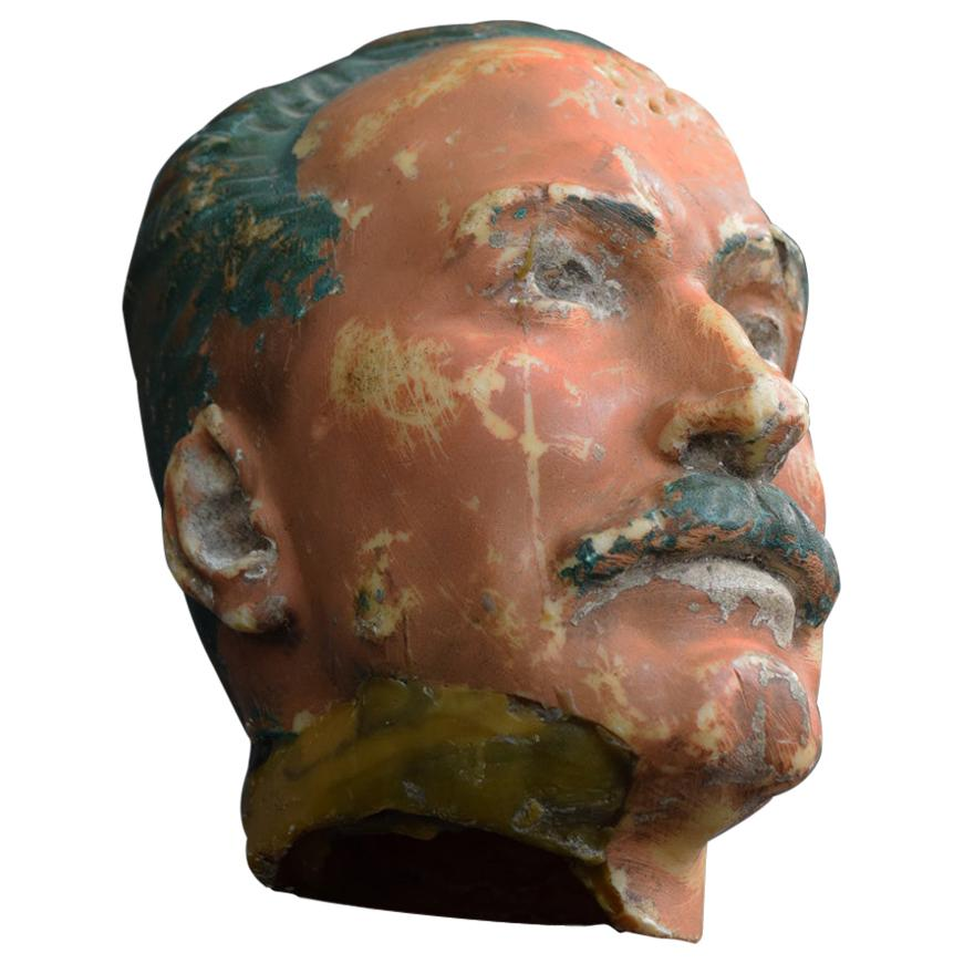 Early 20th Century Wax Mannequin Head