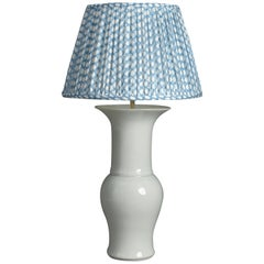 Early 20th Century White Porcelain Vase Lamp