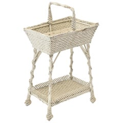 Early 20th Century Wicker Sewing Stand