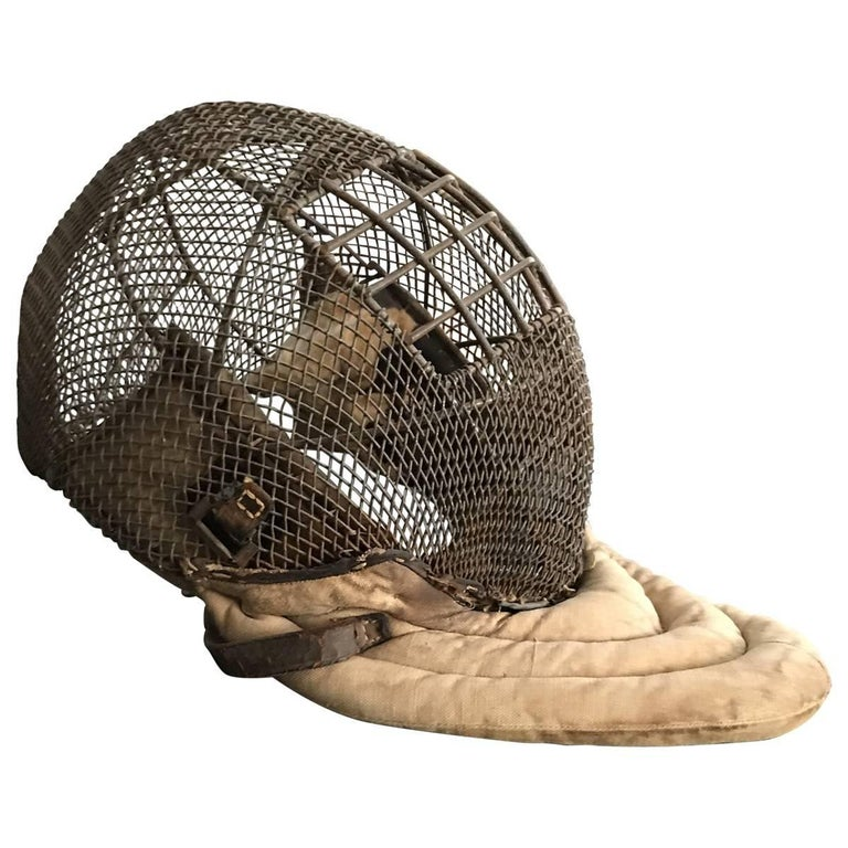 Other Early 20th Century Wire and Leather Fencing Mask For Sale