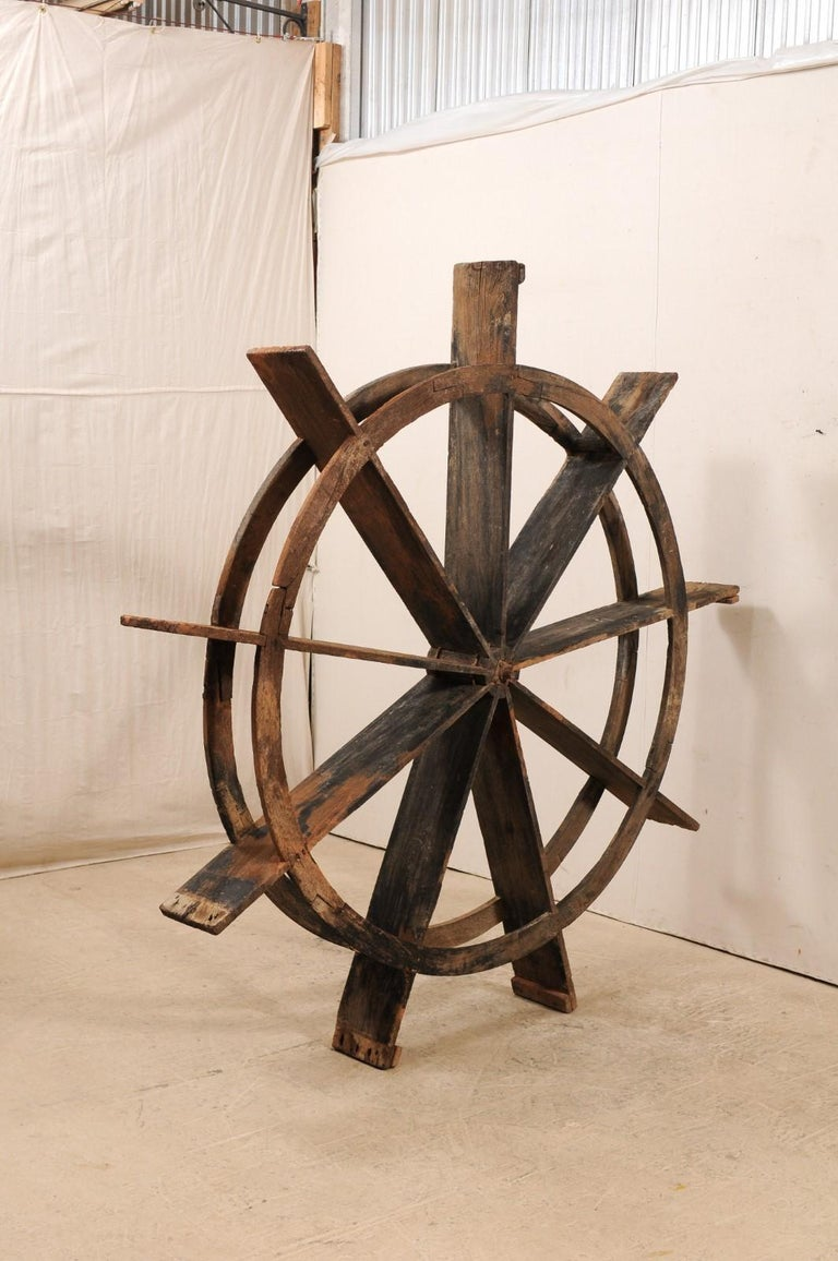 Indian Early 20th Century Wood Water Wheel from Kerala, India For Sale
