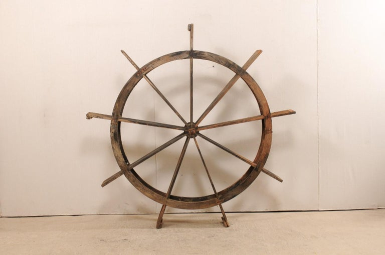 Carved Early 20th Century Wood Water Wheel from Kerala, India For Sale