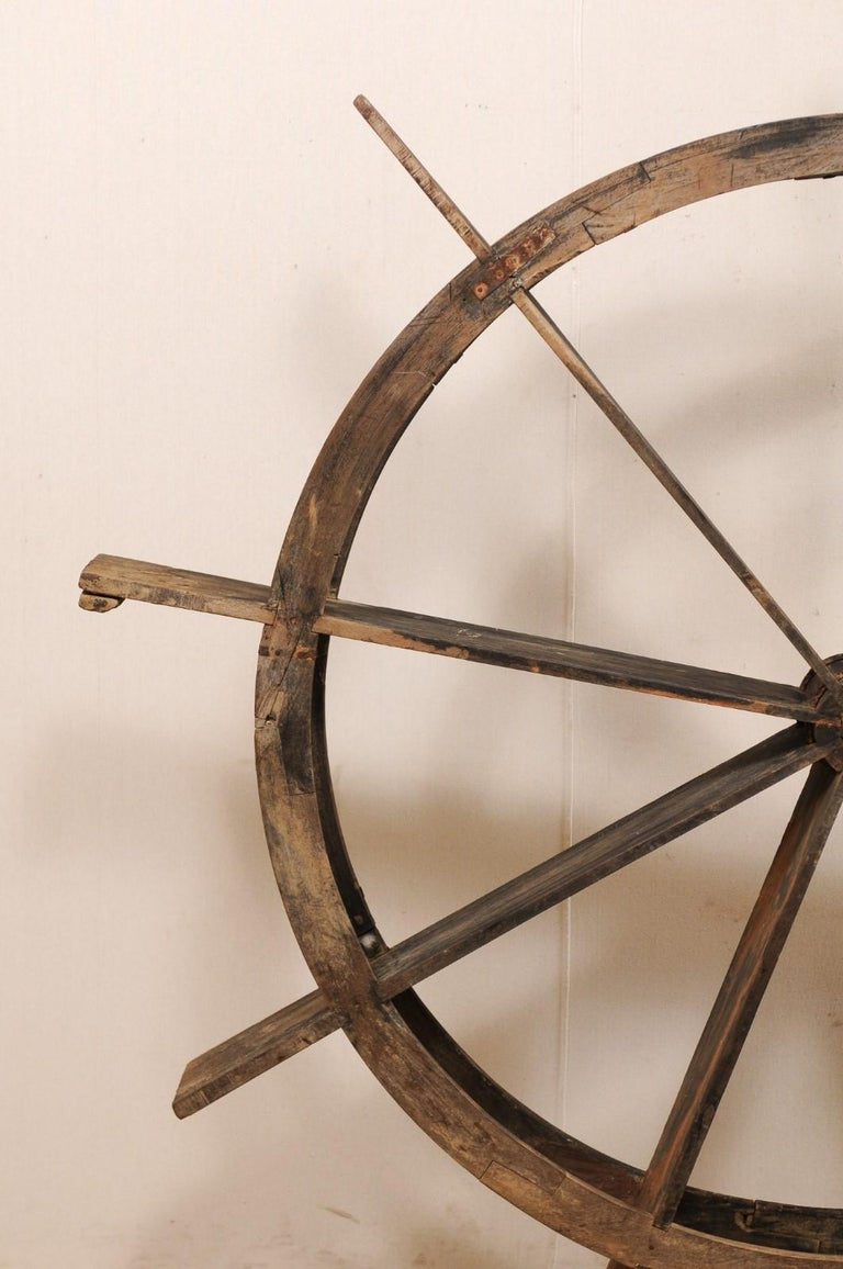 Metal Early 20th Century Wood Water Wheel from Kerala, India For Sale