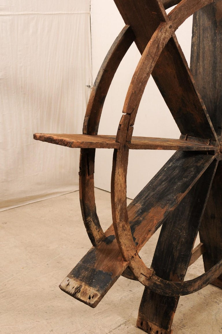 Early 20th Century Wood Water Wheel from Kerala, India For Sale 1