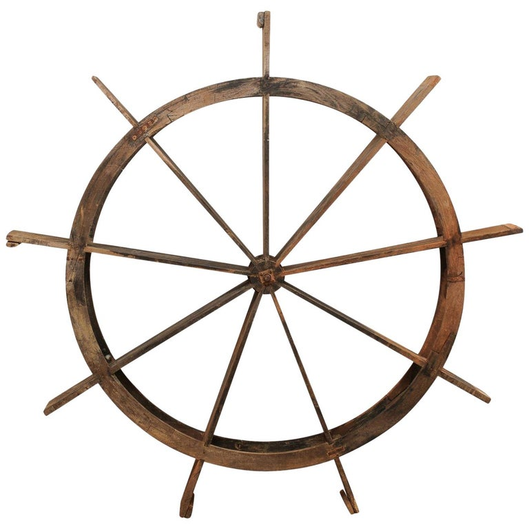 Early 20th Century Wood Water Wheel from Kerala, India For Sale