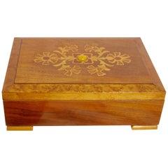 Early 20th Century Wooden Box Ebonized Inlay Work, Austria, circa 1938