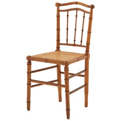 Early 20th Century Wooden Faux Bamboo Chair