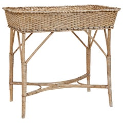 Early 20th Century Woven Cane Work Jardinière Stand