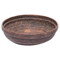 Early 20th Century Woven Offering Tray Basket