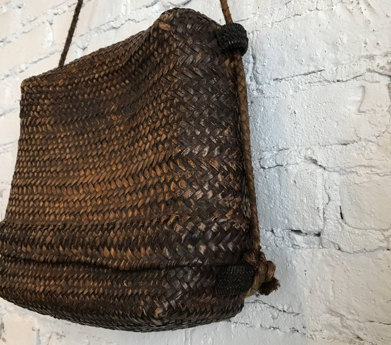 Early 20th Century Woven Thai Basket For Sale 5