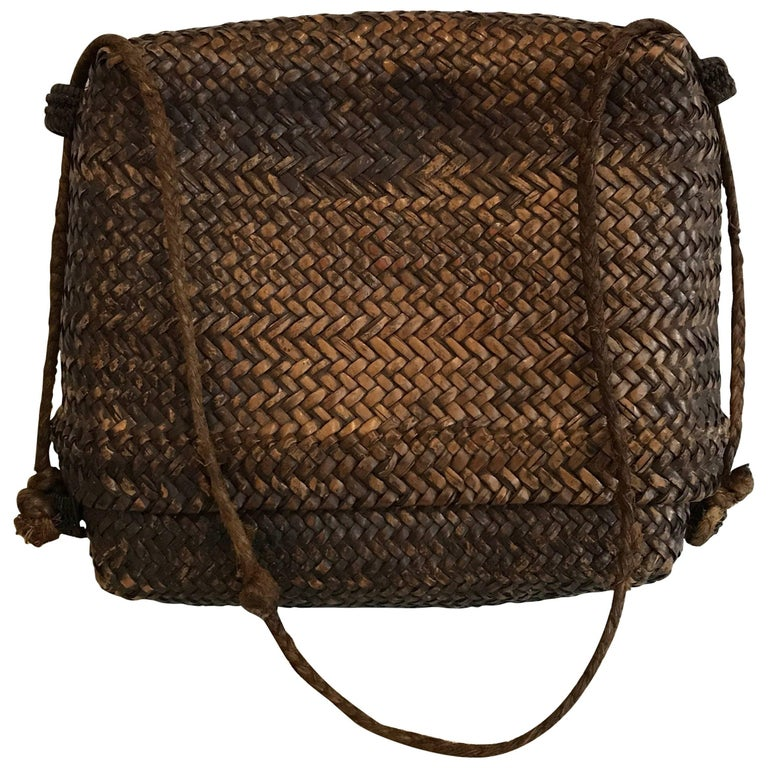 Early 20th Century Woven Thai Basket For Sale