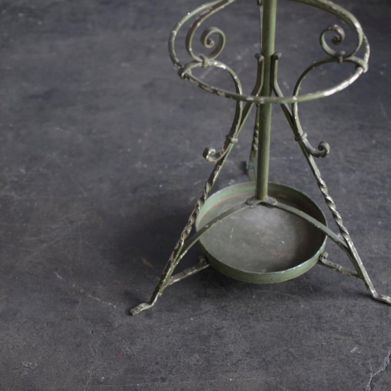 Mid-Century Modern Early 20th Century Wrought Iron Hat and Coat Stand For Sale