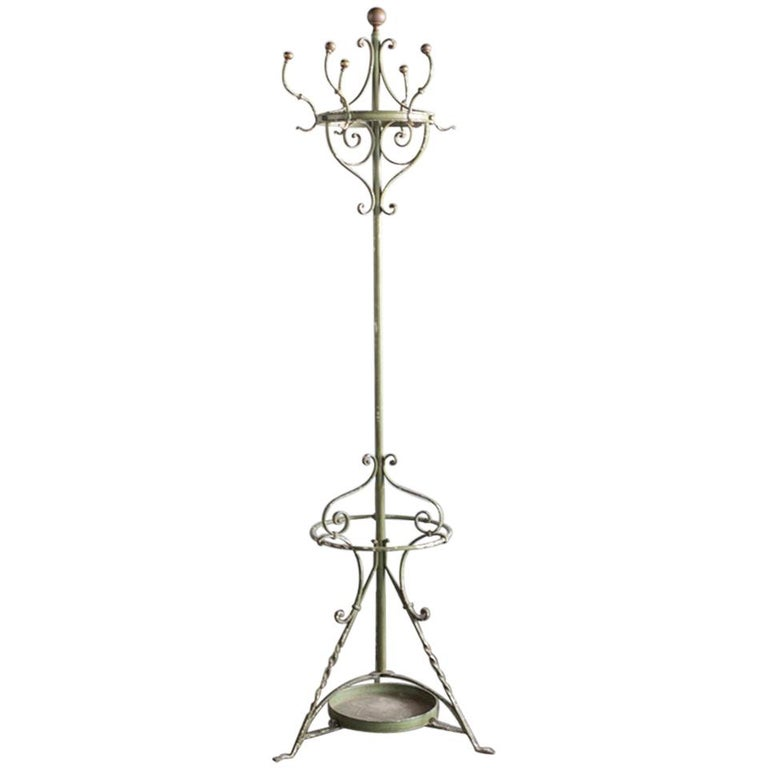 Early 20th Century Wrought Iron Hat and Coat Stand For Sale
