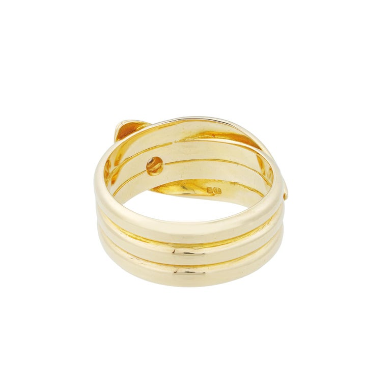 Victorian Early 20th Century Yellow Gold Serpent Ring For Sale