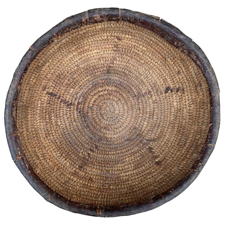 Natural Fiber Early 20th Century Yoruba Basket For Sale