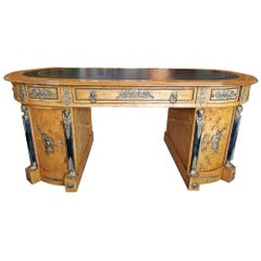 Early 20th Centuy French Neo Classical Revival Style Partners Desk
