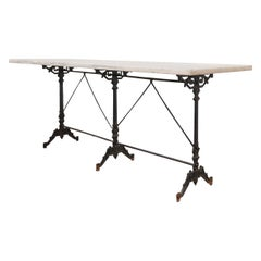 Early 20th Century French Marble Garden Table