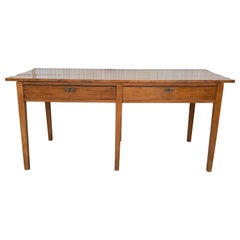 Early 20th Spanish Mobila Country Farm Desk Table or Butcher Block