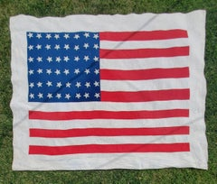 Early 20Thc 48 Star Flag Quilt From Ohio