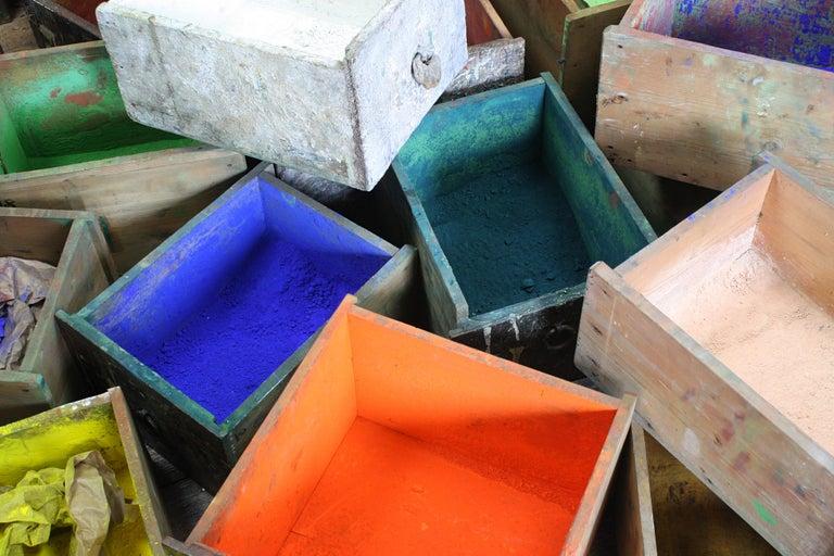 Dutch Bank of Drawers Sculptural Artist Studio Pigment Dispensing Cabinet  For Sale