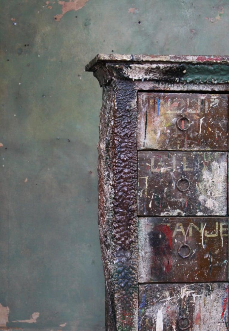 Bank of Drawers Sculptural Artist Studio Pigment Dispensing Cabinet  For Sale 1