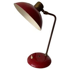 Brass Arts & Crafts, Industrial Table or Desk Lamp with Great Patina