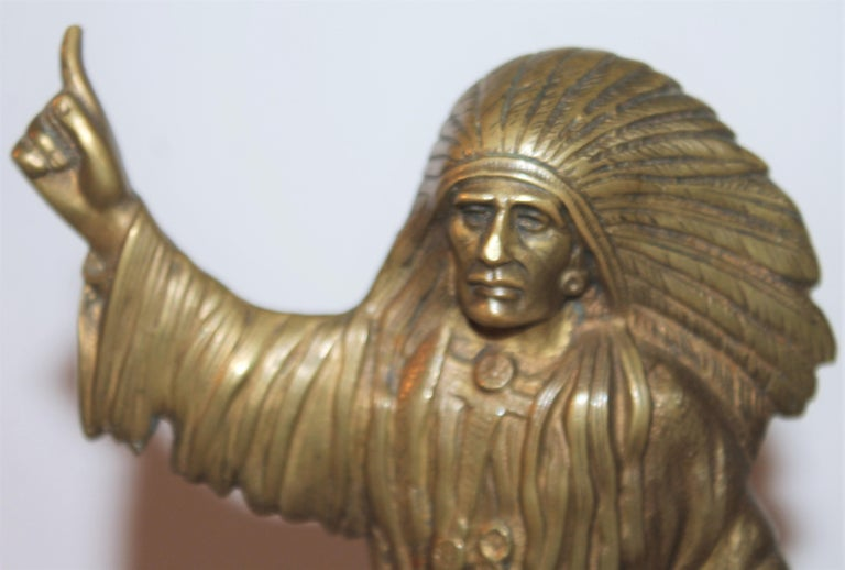 Early 20thc Bronze Indian Sculpture on Marble Base In Good Condition In Los Angeles, CA