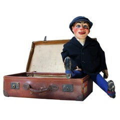 Early 20th Century Cased Ventriloquist's Dummy by Arthur Quisto