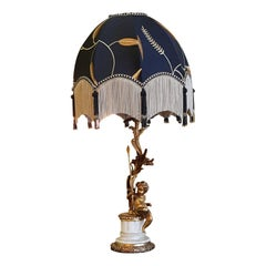 Early 20thC Gilt Metal Lamp