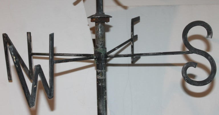 American Early 20thc Monumental Road Runner Weather Vane For Sale