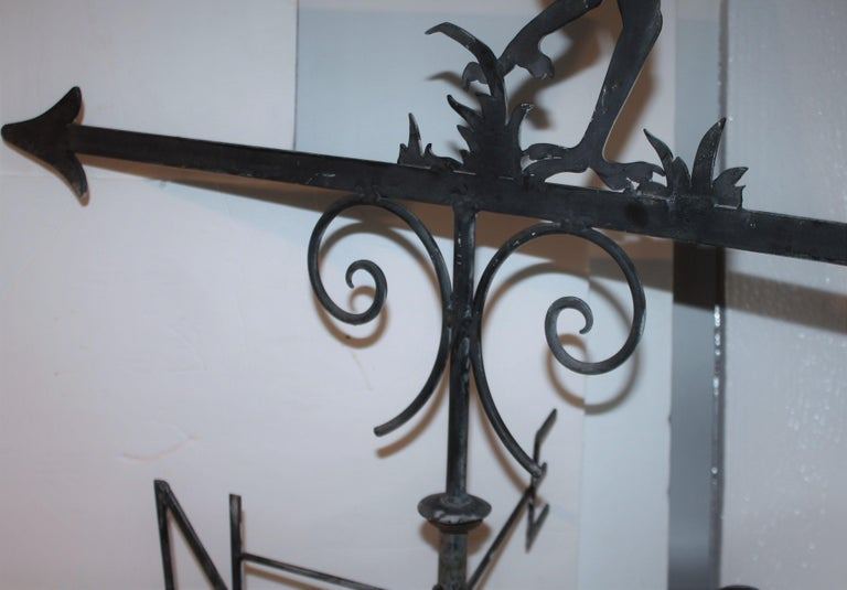 Early 20thc Monumental Road Runner Weather Vane In Good Condition For Sale In Los Angeles, CA