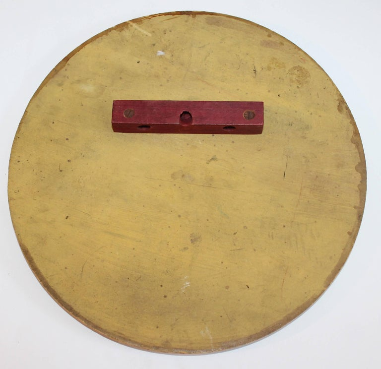 Hand-Painted Early 20th Century Original Painted Target Game Board For Sale