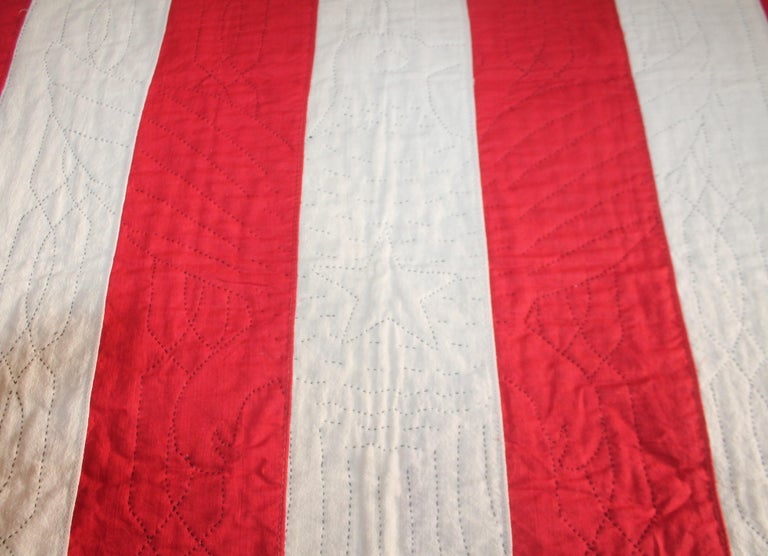 Early 20th Century Patriotic Eagle Crib Quilt For Sale 7