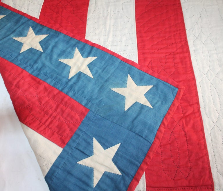 Early 20th Century Patriotic Eagle Crib Quilt For Sale 8
