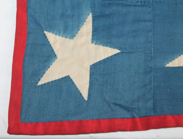 Early 20th Century Patriotic Eagle Crib Quilt For Sale 9