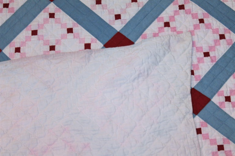 Early 20th C Postage Stamp Quilt In Good Condition For Sale In Los Angeles, CA