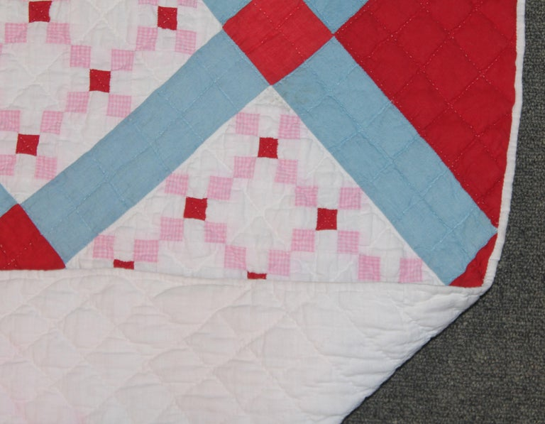 20th Century Early 20th C Postage Stamp Quilt For Sale
