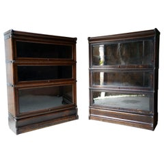 Early 20thC Set of Six Oak Stacking Barrister Bookcases by Globe Wernicke c.1910
