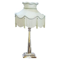 Early 20th Century Silver Plate Table Lamp