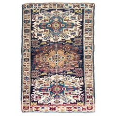 Early 29th Century Caucasian Shirvan Rug with Eagle Design