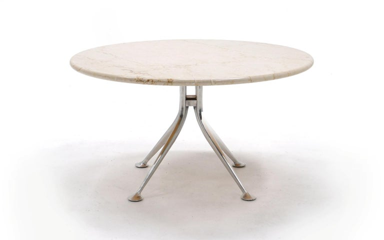 Alexander Girard for Herman Miller round marble table in very good condition. Only available for one year in 1967. This is an original production, not a reissue. Very good condition with signs of light use. No chips, cracks, or repairs. Ready to use.
