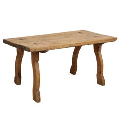 Early Allmoge Swedish Bockbord Table, circa 1750