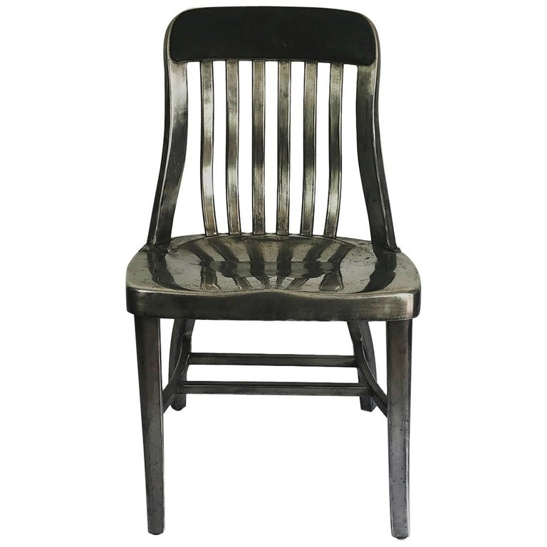Early Aluminum Chair by General Fireproofing For Sale