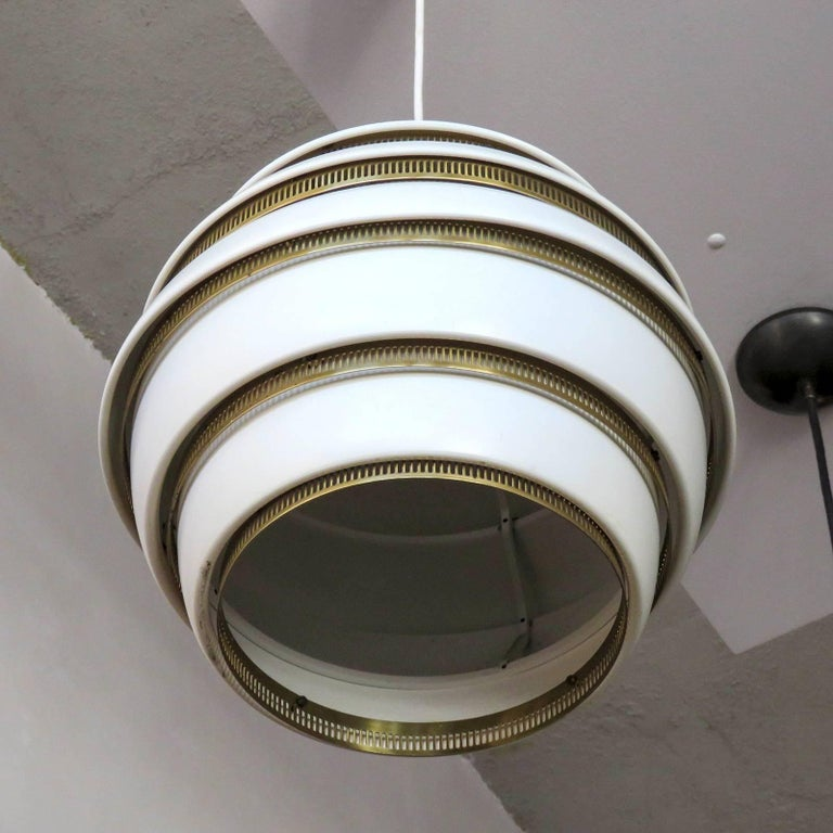 Finnish Early Alvar Aalto A331 Beehive Pendant For Sale